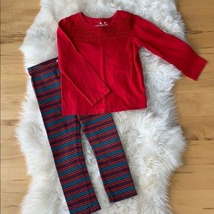 Size 4T legging and long sleeve shirt